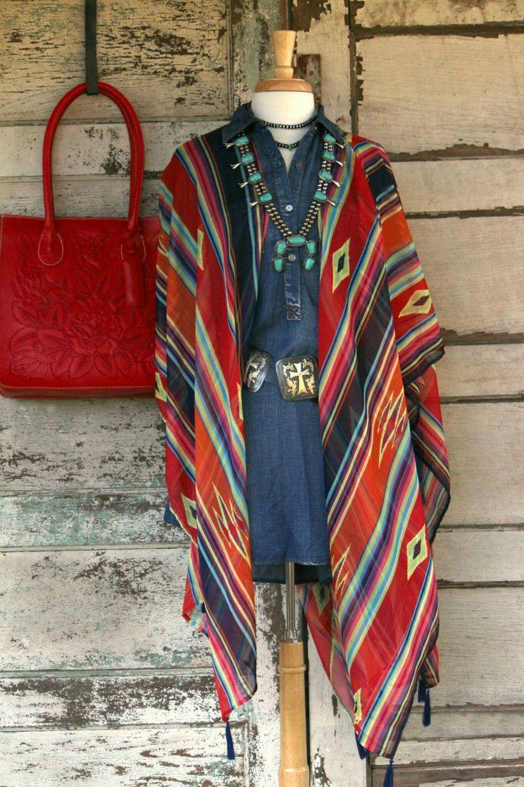Turquoise boho rustic western gypsy fashion