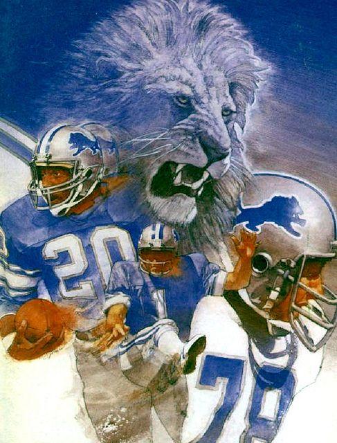 Detroit Lions.  Illustration by Cliff Spohn.