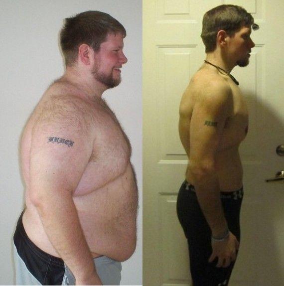 Пример похудения мужчинам