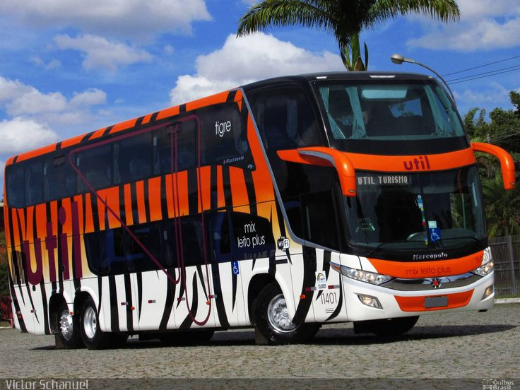 Marcopolo Paradiso 1800 DD - UTIL - Série Animal Planet. Ônibus com as pinturas escolhidas em concurso são entregues…