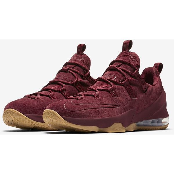 LeBron XIII Low Premium Men's Basketball Shoe. Nike.com ($105) ❤ liked on Polyvore featuring men's fashion, men's shoes, men's low top shoes, nike mens shoes and mens shoes