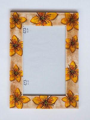 Ramka- żółte kwiaty (efekt