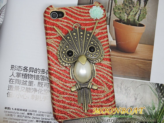 <3   Antique Brass Cute Owl Hard Case Cover for iPhone 4 by moonboat, $12.99: Shops Trips, Iphone Cases, Iphone 4S, Iphone Covers Owl, Iphone Coverowl, Phones Cases, Antiques Brass, Cute Owl, Cases Phones