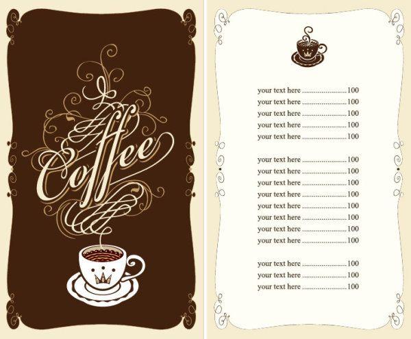 メニュー作りの参考に!カフェ&レストラン無料メニューテンプレート5セット(商用可・EPS) - Free-Style