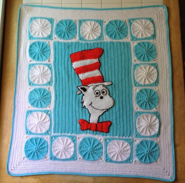 Cat In The Hat Crocheted Blanket Crochet Afghans