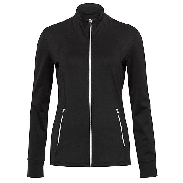 Health Goth // Target / T30 Zip Front Performance Athletic Jacket - Black