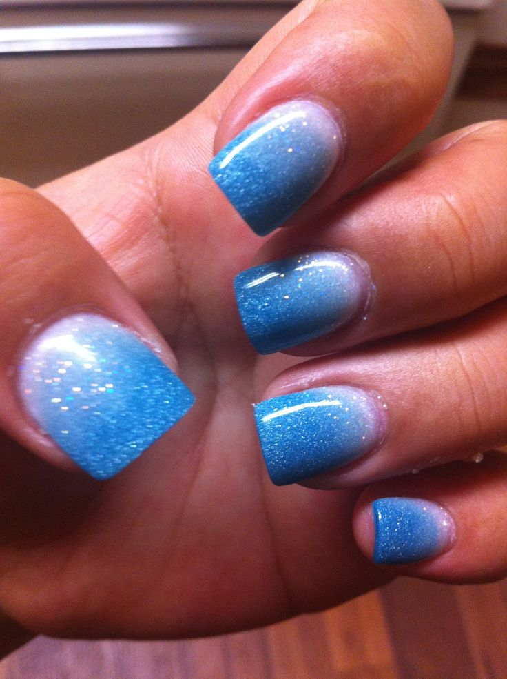 Gel Powder Fade Nails