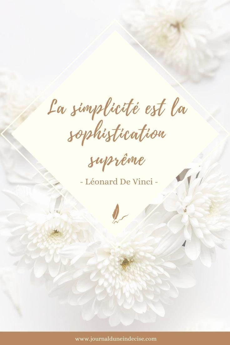La Simplicité Est La Sophistication Suprême : simplicité, sophistication, suprême, Simplicité, Selon, Vinci, Vinci,, Leonard