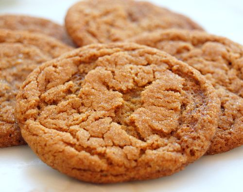 Crispy Ginger Cookies - mine didn't turn out all crinkly-looking like the photo, but they were delicious - 9/22/2013.
