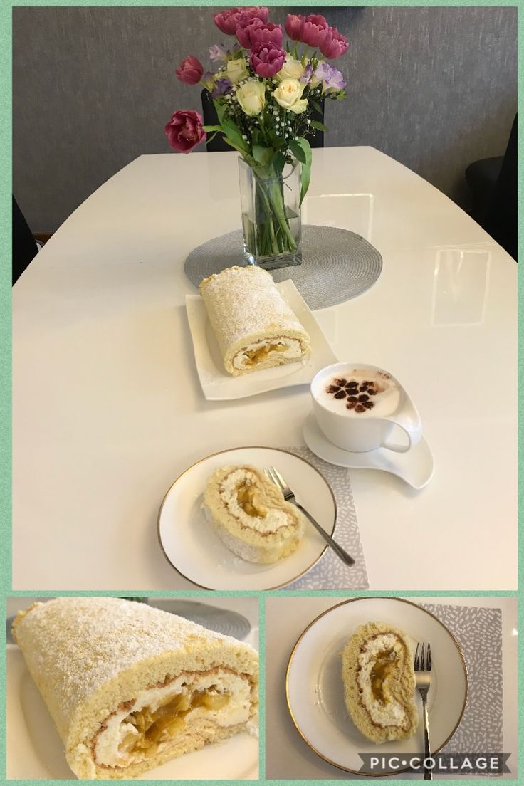 Swiss roll# mango apple cream/ delicious/ Sahnerolle/ lecker