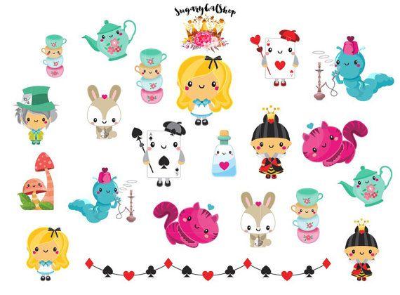 New Alice in Wonderland Planner Sticker Set by SugaryGaLShop