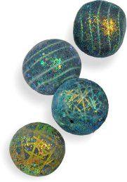 Klio Tsaliki glitters her holiday beads on PolymerClayDaily.com