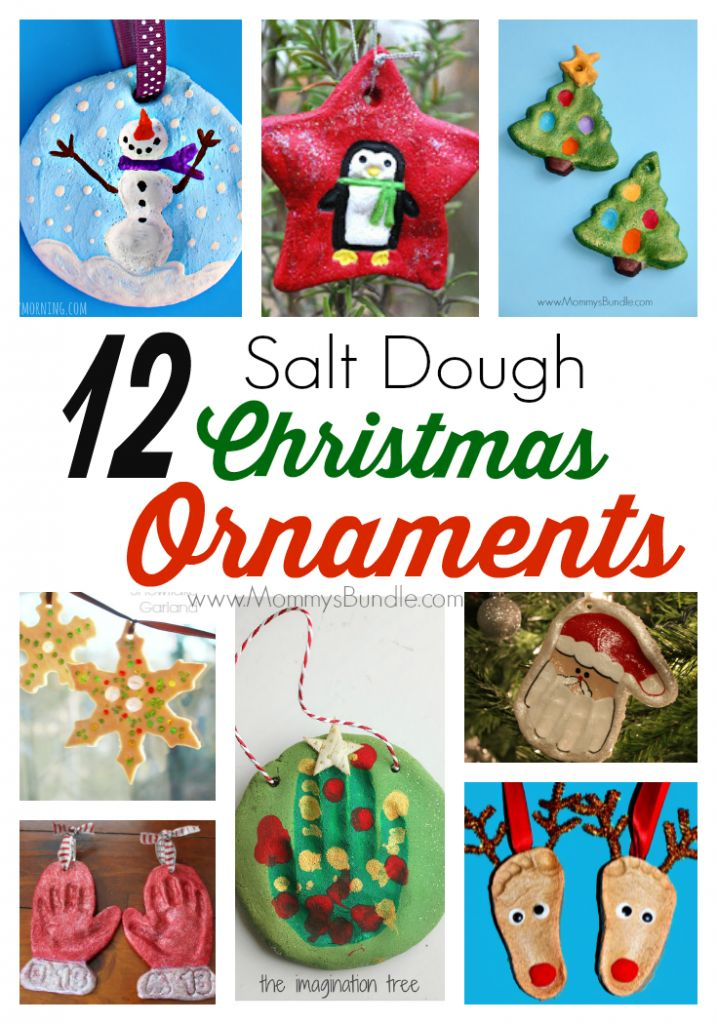 12 Salt Dough Christmas Ornaments for Kids