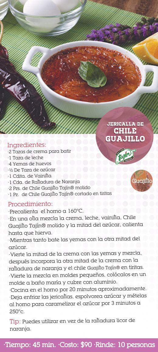 Receta jericalla de chile guajillo (chiles secos)