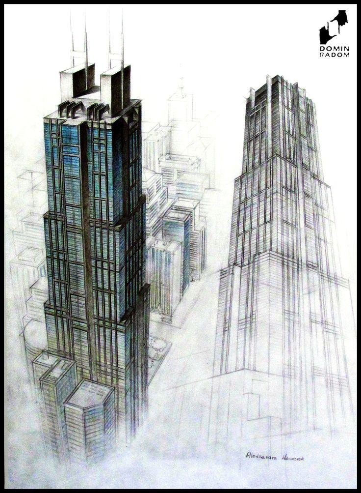 Skyscraper drawn by Aleksandra Wieczorek in DOMIN Radom drawing school / Wieżowiec narysowany przez Aleksandrę Wieczorek w szkole rysunku DOMIN Radom https://www.facebook.com/DominRadom?fref=ts