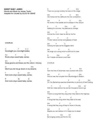 Sweet Baby James, an Illustrated Song | SBWE Songbook | Pinterest ...
