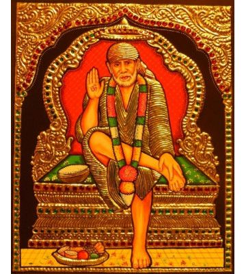 Tanjore Painting of Sai Baba