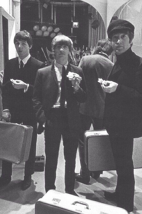Paul McCartney, Ringo Starr and John Lennon