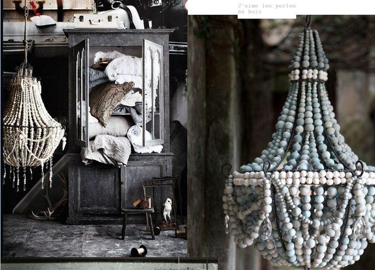 1000 id es propos de lustre perl s sur pinterest. Black Bedroom Furniture Sets. Home Design Ideas