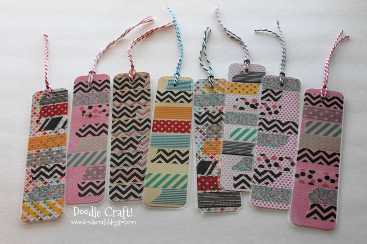Doodlecraft: Washi Tape Bookmarks!