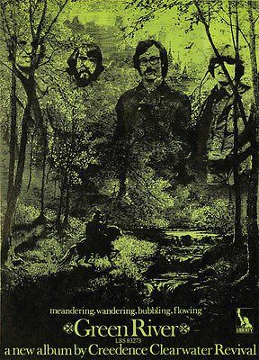 Creedence Clearwater Revival - Green River - 1969 - Album Release Promo Poster