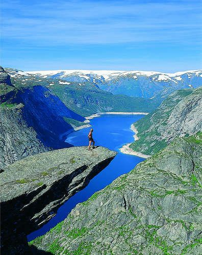 Trolltunga (Troll's tongue) Norway Hardanger New Route Trekking Into the wild wilderness wildlife mountain