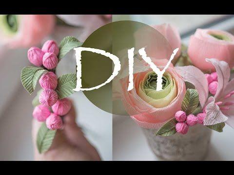 Букет из гофрированной бумаги в коробке DIY Tsvoric Bouquet of corrugated paper in a box - YouTube