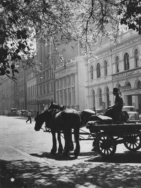 Early morning delivery in Eagle Street, Brisbane, ca. 1940 by State Library of Queensland, Australia, via Flickr