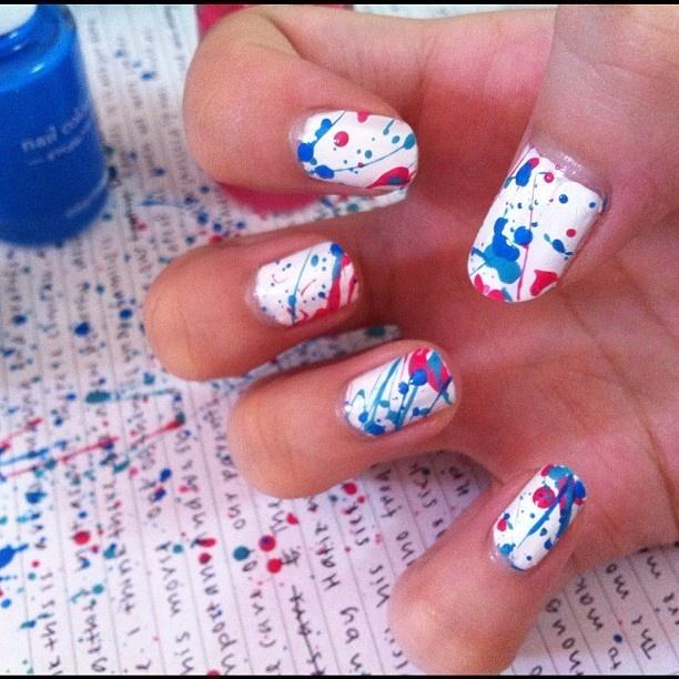 Splat!   #nails #mani #nailartMani Nailart