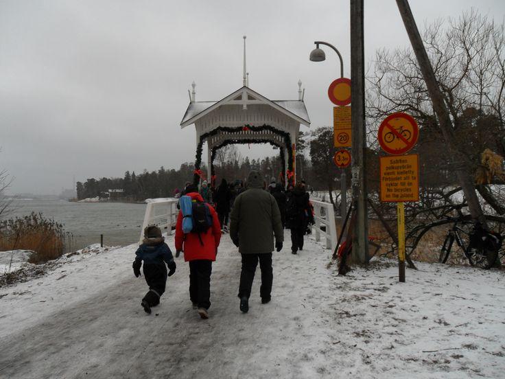winter in Seurasaari Helsinki