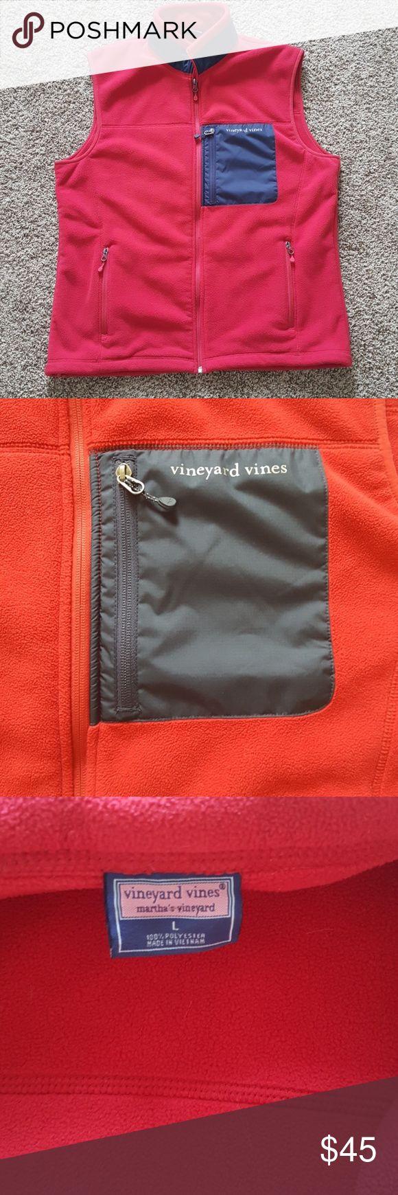 Vineyard Vines men's fleece vest This men's red fleece vest is in great pre-owned condition. Vineyard Vines Jackets & Coats Vests