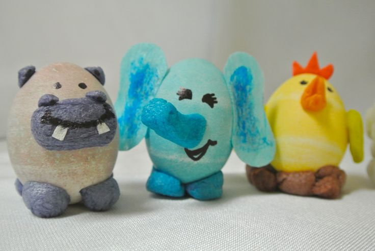 Hard Boiled Egg Animals decorated with Magic Nuudles