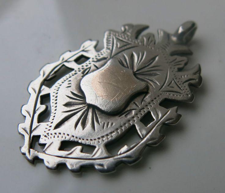 EDWARDIAN STERLING SILVER MEDAL - POCKET WATCH FOB - BIRMINGHAM 1903 in Jewellery & Watches, Vintage & Antique Jewellery, Vintage Fine Jewellery | eBay