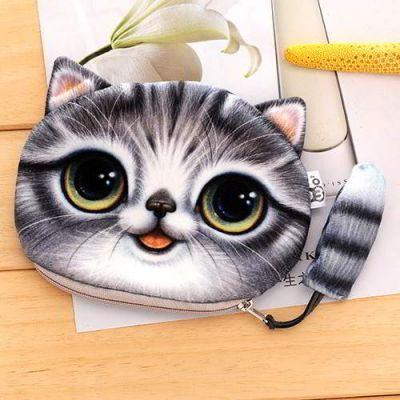 Kitten Cartoon Cat Pattern Decorated 3D Design Gray. Cute and elegance REPIN if you agree.😊 Only 76.5 IDR