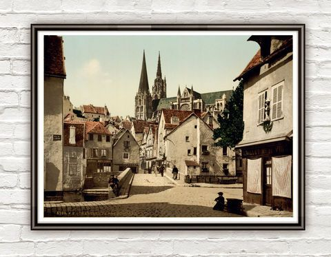 Vintage Photo of Chartres France 1895