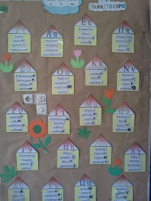 The letter village! Great idea!