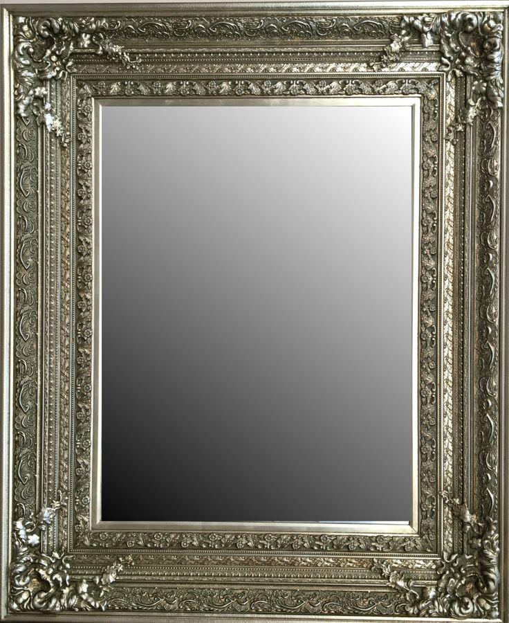 espejo biselado estilo cl sico barroco con marco en madera