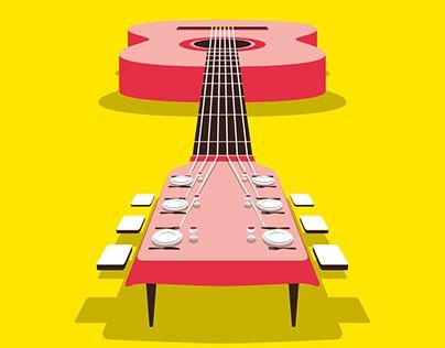 """Poster for """"Mangiamusica""""   Victor Cavazzoni"""