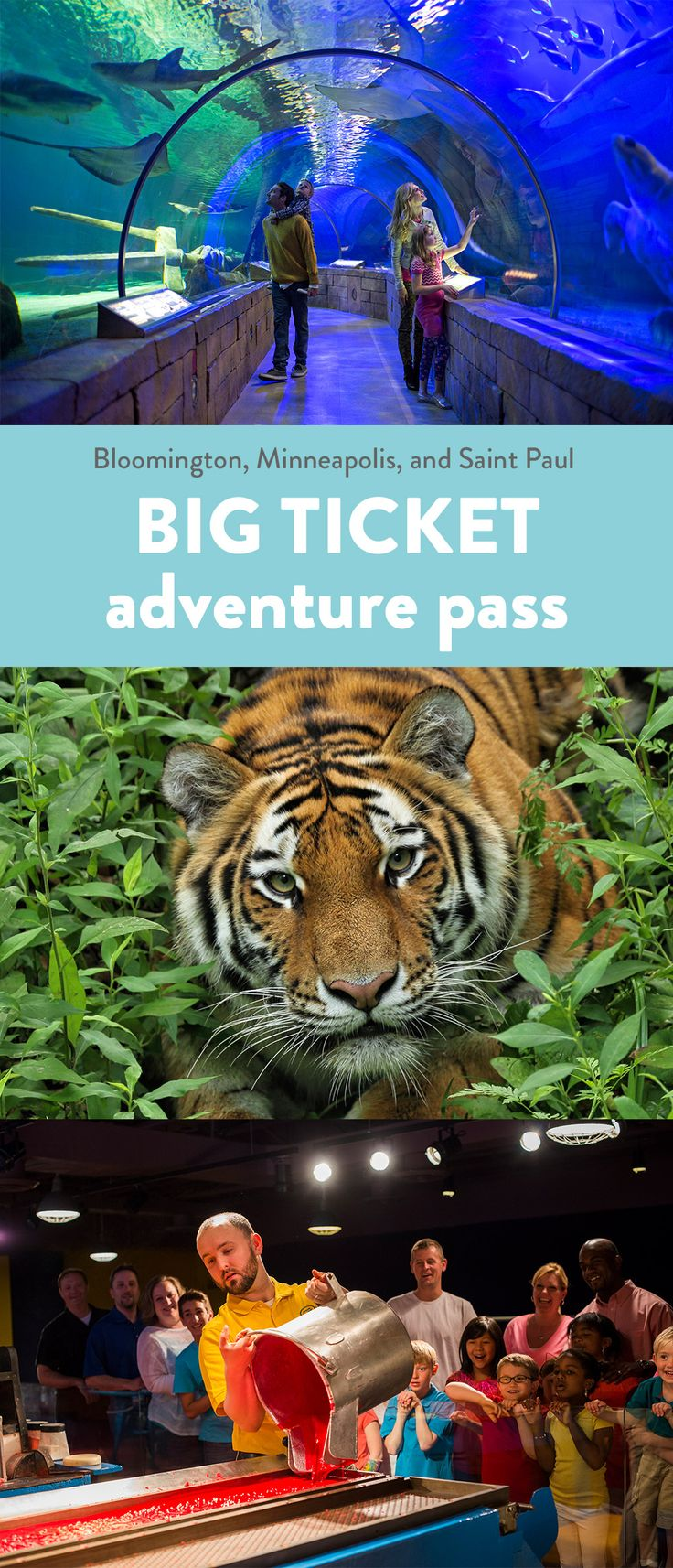 Purchase The Big Ticket for discounts at SEA LIFE Minnesota Aquarium, Minnesota Zoo, Crayola Experience, and more!