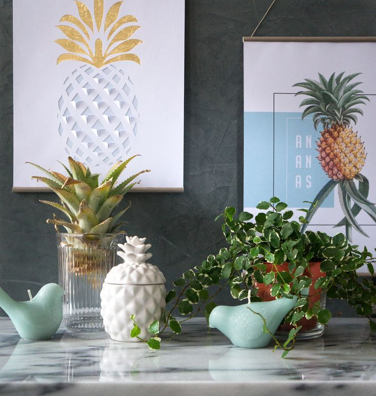 DIY Des tableaux ananas. (http://www.etpourquoipascoline.fr/2015/11/ananas-forever/)