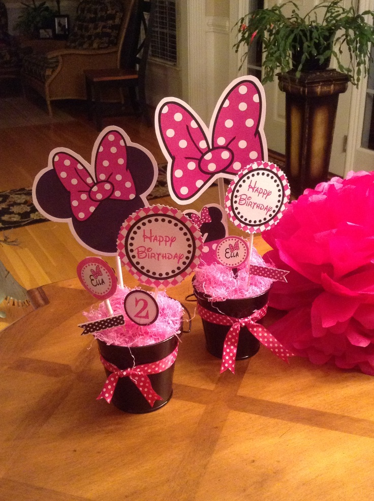 From Catch My Party Minnie Mouse Centerpiece