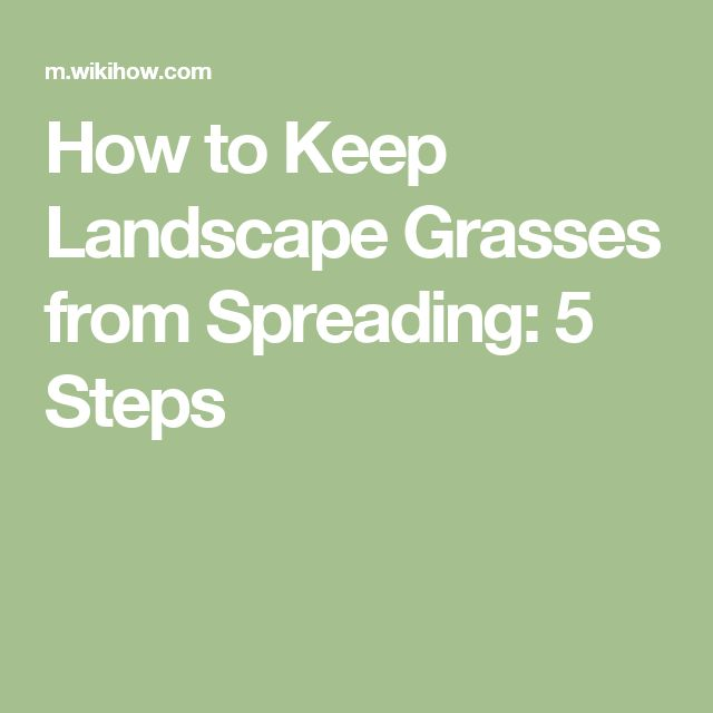 How to Keep Landscape Grasses from Spreading: 5 Steps