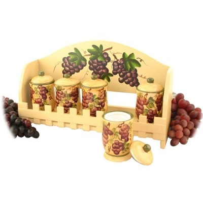 Candle Holder Set Grape Tuscany Wine Kitchen Decor For My Home Pinterest Tuscany Products