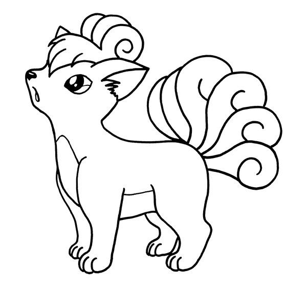 pokemon tails coloring pages - photo#5