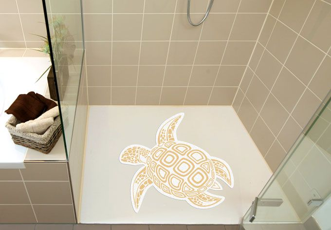 Antidérapant Tortue de K&L Wall Art - Pour douche et baignoire
