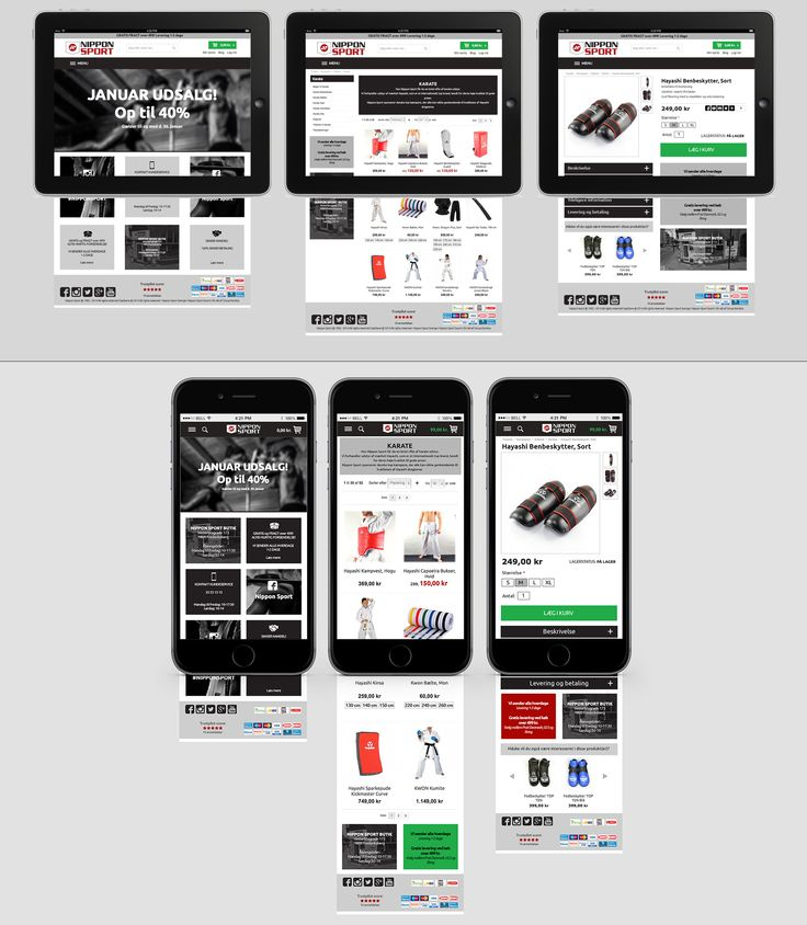 redesign, website mockups, Nippon Sport. By Kia Lange.