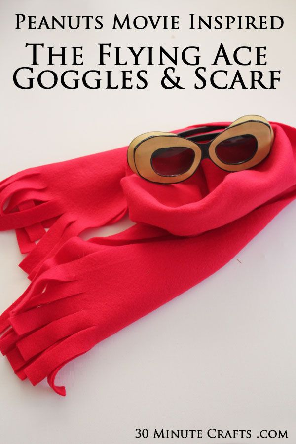 Peanuts Movie - Snoopy the Flying Ace Goggles and Scarf Craft