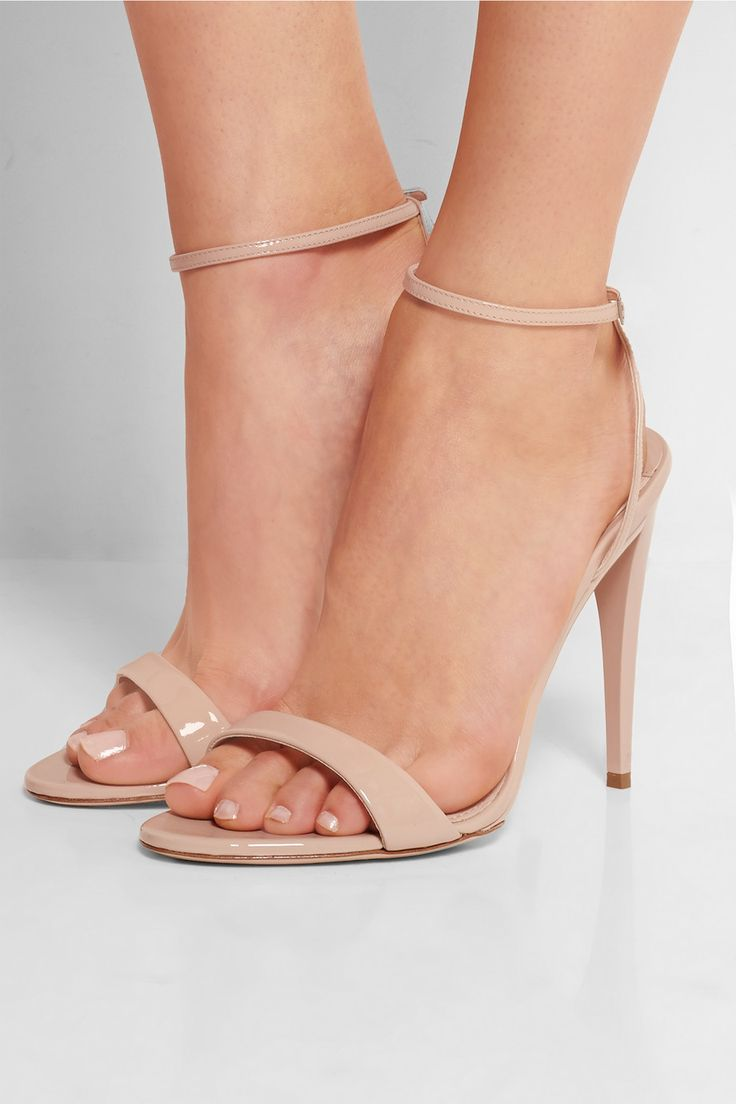 Miu Miu | Swarovski crystal-embellished patent-leather sandals | NET-A-PORTER.COM