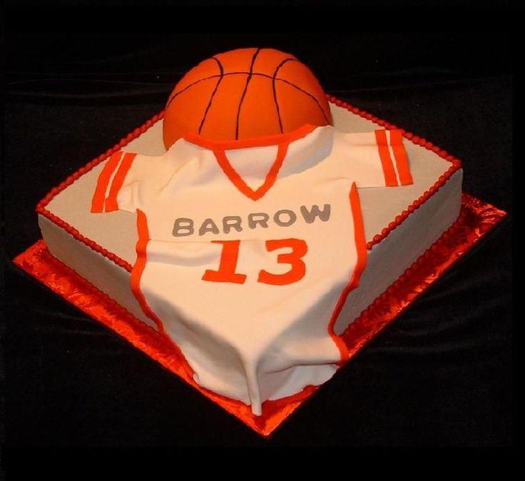 Basketball & Jersey Cake | Basketball birthday cake ...