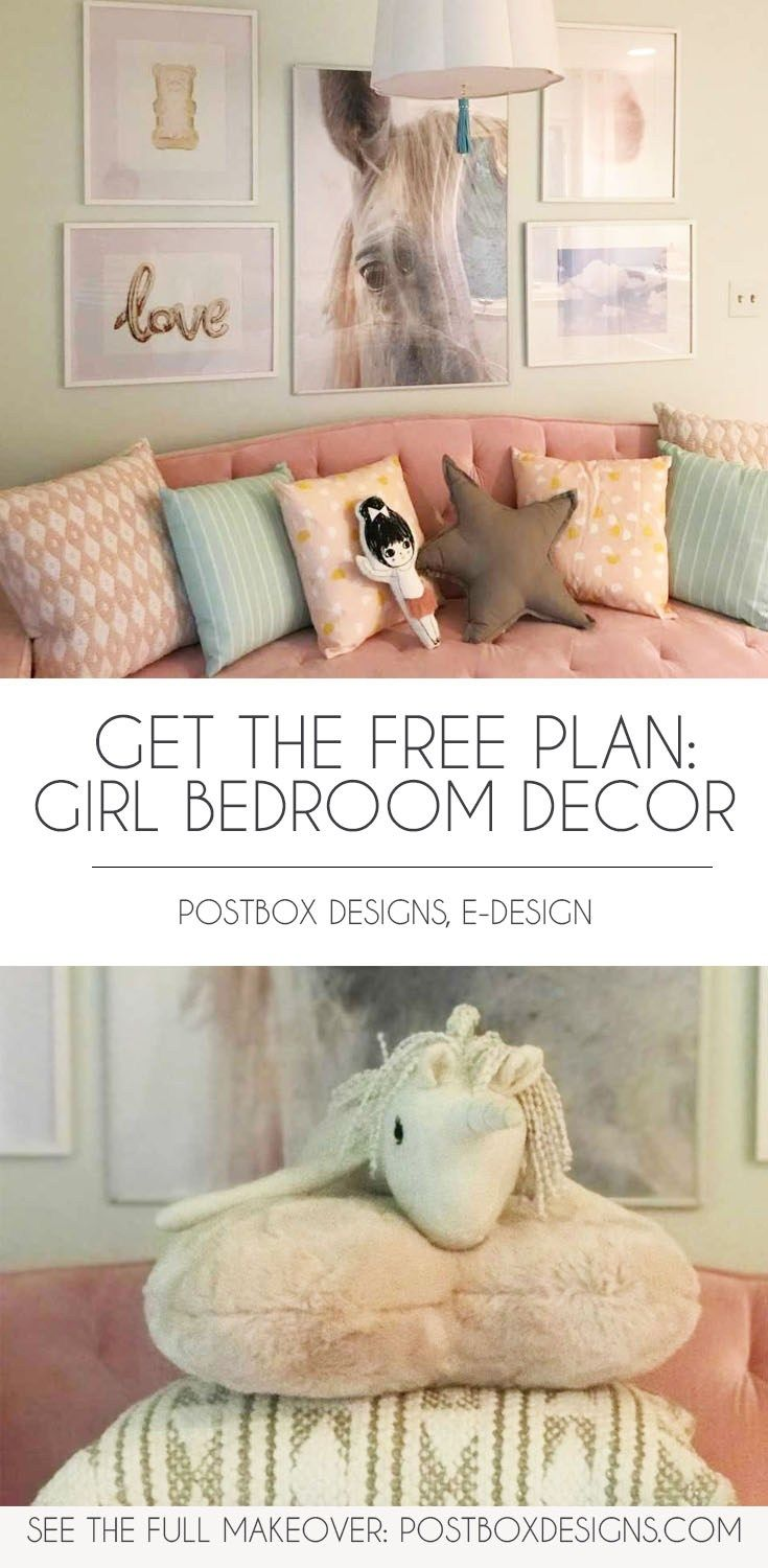 Girl Bedroom Makeover Girl Room Decor Via Online Interior Design Girls Bedroom Makeover Bedroom Makeover Girls Bedroom